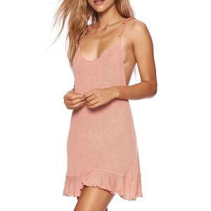 Beach Bunny Annika Dress in Whiskey Rose Small Sm